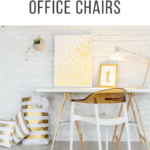 White and Gold Office Chairs