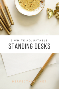 White Adjustable Standing Desk